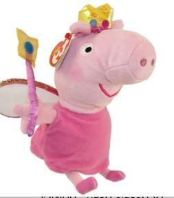Ty Peppa Pig Princess  Stuffed Animal  Plush  Beanie Babies