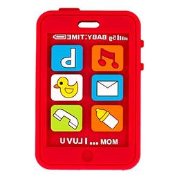 Silli Chews Red Baby Teether Cell Phone Silicone Teething To