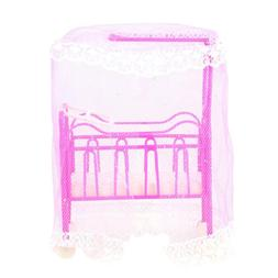 Pink Doll House for girls doll Small Bed Dolls Accessories G