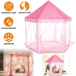 Pink Princess Castle Cute Playhouse Children Kids For Play T