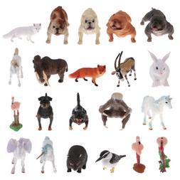 Plastic Wildlife Zoo Animal Models Figurine Nature Science F