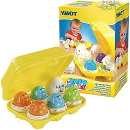 TOMY Play to Learn Hide 'n' Squeak Eggs - Baby Toddler Activ