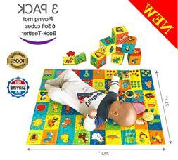 MACIK PlayingMat+6 Soft Blocks For Baby Toy Baby Teething To