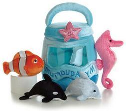 """Aurora Plush Baby 6"""" My Aquarium Carrier with Sound - Aurora"""