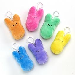 plush backpack clips easter marshmallow style plush