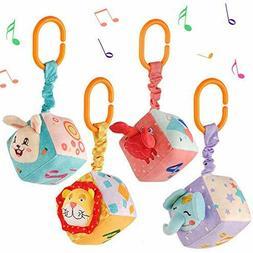 Plush Hanging Baby Toys for 0 3 6 9 to 12 Months,Newborn Sen