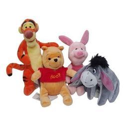 Disney Winnie The Pooh 4 Pack Mini Plush- Winnie, Tigger, Ee