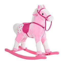 Qaba Kids Plush Rocking Horse Pony w/ Realistic Sounds - Pin