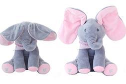 OMGOD Plush Toy peek-a-Boo Elephant, Hide-and-Seek Game Baby
