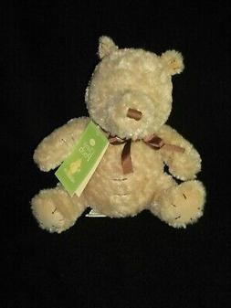 "Disney Plush Winnie the Pooh Teddy Bear Tan 10"" Baby Lovey B"