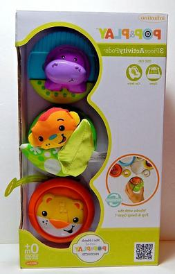 Infantino Pop & Play 3-Piece Activity Pods Baby Toys 0+ Mont