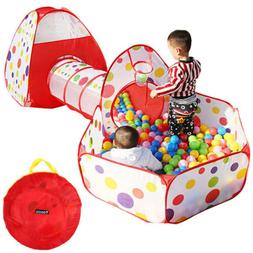 Portable Kids Baby Outdoor/Indoor Game Play Tunnel Toys Tent