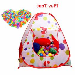 Portable Kids Child Ball Pit Pool Play Tent for Baby Indoor
