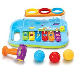 JOYIN Baby Pound & Tap Bench Xylophone Musical Toy with Colo