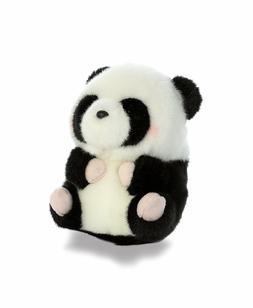 5 Inch Precious Panda Rolly Pet Plush Stuffed Animal by Auro