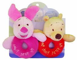 Kids Preferred Disney Baby, Plush Ring Rattles - Winnie the