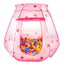 S.K.L Kids Princess Play Tent Foldable Popup Balls House for