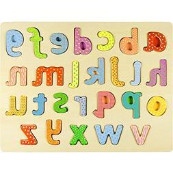 Professor Poplar's Lower-case Alphabet Wooden Jigsaw Puzzl