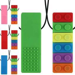 Rainbow Kids Baby Chewy Necklace Anti Autism Biting Sensory
