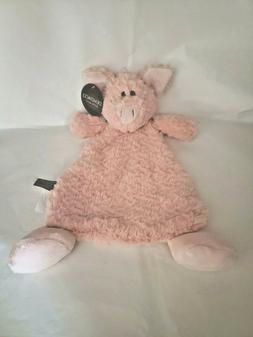 DEMDACO Pudder Pig Pink Children's Plush Rattle Blankie