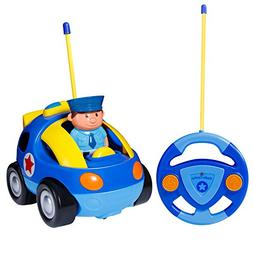 SGILE RC Police Race Car Train Toy for Kids Birthday Gift Pr