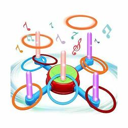 Ring Toss Outdoor Games for Kids,Toys for 3 4 5 6 7 8 Year O
