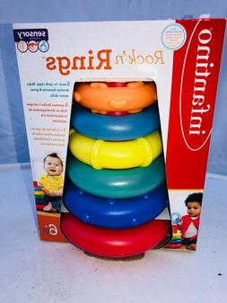 Infantino Rock'n Rings Sensory Collection Baby Stacking Ring