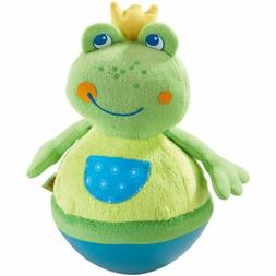 Haba Roly Poly Frog Soft Wobbling & Chiming Baby Toy