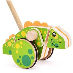 Safe&Care Baby Toddler Push Along Toys Push Pull Wooden Toy
