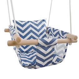 Secure Canvas Hanging Swing Seat Indoor Outdoor Hammock Toy