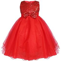 ylovego Sequined Baby Toddler Kids Tulle Dress Girls Flower
