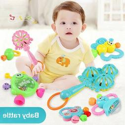 Set of 7 baby teether rattle baby rattle newborn baby 0-1 educational toys L1K7