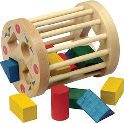 Shape Sorter Round Cage Made in USA Wooden Handcrafted Toys