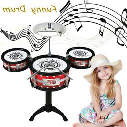 Lifelike Shelf Drum Set toy Baby Girls Boys Music Toys Infan