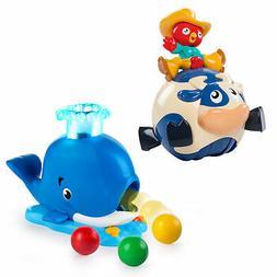 Bright Starts Silly Spin & Popper Ball Popper Toy Bundle