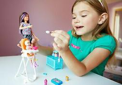 Barbie Skipper Babysitters Inc. Doll and Feeding Playset