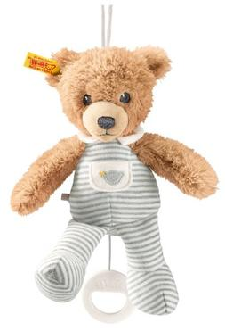 Steiff Sleep Well Bear Music Box, Gray, 7.9""