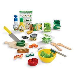 Melissa & Doug Slice & Toss Salad Play Food Set with 52 Wood