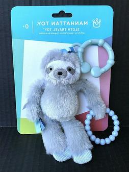 Sloth Baby Rattle Teether & Travel Toy By Manhattan Toy Co.