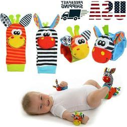 Soft Rattle Set Baby Sensory Toys Foot-finder Socks Wrist Ra