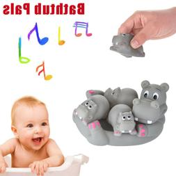 Soft Rubber Bath Toys Cute Animals Family Bathtub Pals Squee