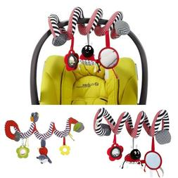 Spiral Bed And Stroller Toy Set Hanging Bell Crib Rattle Toy