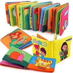 Here Fashion Squashy Soft Cloth Book Cartoon Word Book Non-T