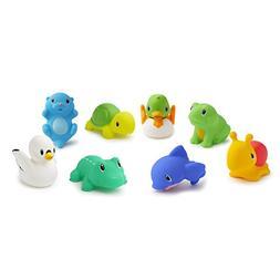 Munchkin Squirtin' Lake Buddies Bath Tub Toy, 10 Count