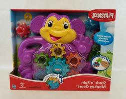 Playskool Stack N Spin Monkey Gears Ages 9 Months + NEW