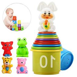 eyscar Stacking Cups Early Educational Toddlers Toy Bathtub