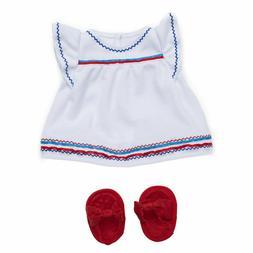 Manhattan Toy Baby Stella Liberty Dress & Sandals Baby Doll