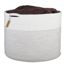 INDRESSME Extra Large Storage Baskets Cotton Rope Basket Wov