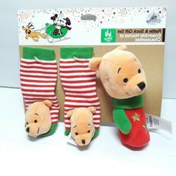 Disney Store Winnie the Pooh Rattle Sock gift set Christmas