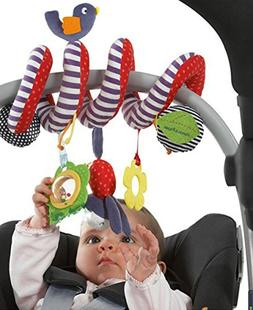 CdyBox Stroller Car Seat Musical Toy for Baby/Cot Spiral Han